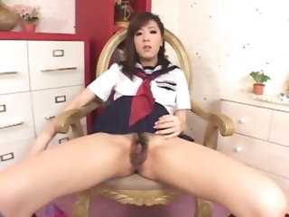 masturbating japanese girl get's wet-2