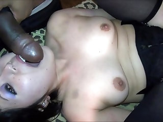 Japanese MILF screams taking 3 BBCs too big for tiny cunt