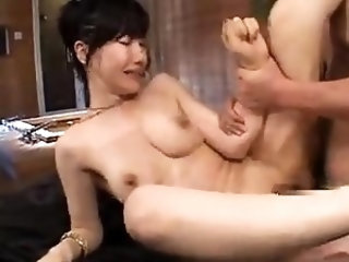 Petite ladyboy pleasures herself with dildo