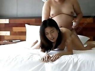 Classic Chinese Amateur Fat Dude vs Cute Girl (3 Vid Edit)