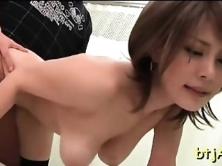 Japanese chick gets exposed and gets her nice vagina licked