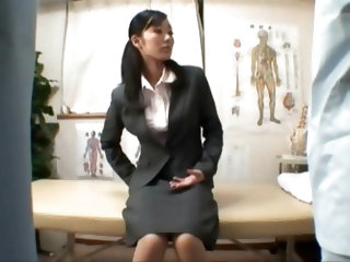 Japanese secretary wants sex during her massage