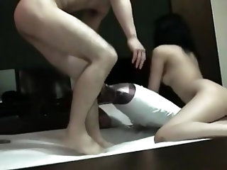 Hot ass babe takes a hard dick up her tight pussy