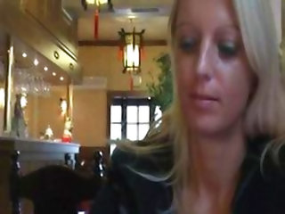 Natural Exhibitionist In Chinese Restaurant