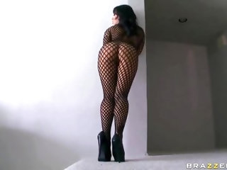 Lovely asian Akira Lee dresses in hot stockings and gives an impressive show, feeling her tight holes by gently rubbing them with her soft fingers, mo
