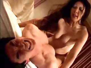 Sexy Japanese girl sits on dick