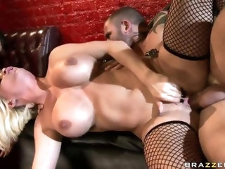 Stunning asian porn queen Asa Akira and busty whores Diamond Foxxx and Jessica Jaymes in lingerie have wild orgy with handsome fuckers Johnny Sins, Jo