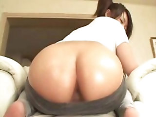 Sweet young skinny Japanese anal whore gets a good ass boning