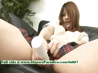 Risa Tsukino hot babe lovely asian model gets pussy teasing