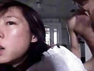 Homemade sex flick of Korean GF sucking her man and getting fucked doggy time twice in a row, both times ending it in her greedy mouth, and showing cu