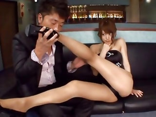 Damn those sexy legs can make a cock hard and what she has between them is absolutely delicious! I play with her hot legs and that sexy booty and then