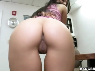 Superb asian with amazing body Asa Akira loves to please her naughty pussy while nobody is in the office, rubbing and feeling it very hard and deep, e