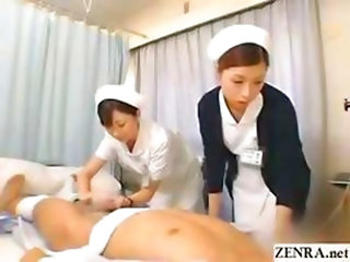 Japanese Nurse Practices Her Handjob Technique