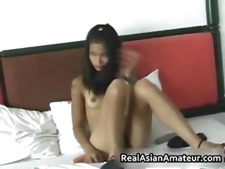 Petite Chinese with a Perfect Bald Pussy 1