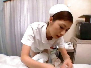 Japanese nurse treats him with hot fucking