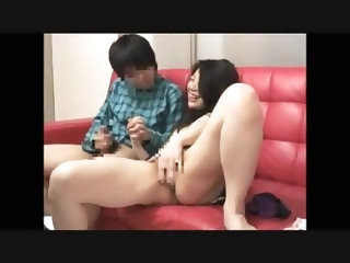 Japanese mother and son masturbating