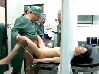 Doctors fuck their cute Japanese patient