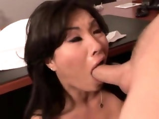 Cheating his wife with his hot Asian secretary