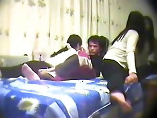 Chinese Amateur Threesome - Lucky Guy -...