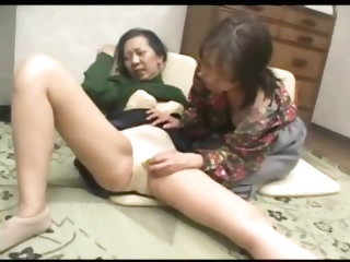 Japanese Granny Helping Neighbor In Trouble