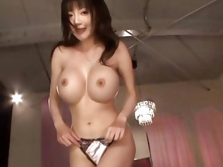 She is smoking hot and has a pair of big round boobs perfect for making cocks hard. Enjoy the sight as she undresses and gives and awesome titjob befo