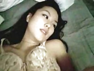 korean gets really horny from sucking her friends dick. she gets all wet and she wants his dick in her nice pussy. its a really tight pussy and she st