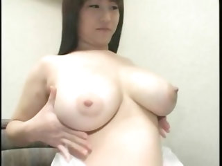 Young wife with milky boobs